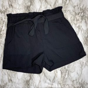 Maze Paper Bag Shorts with Pockets